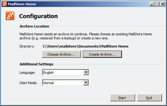 MSH Configuration Location Dialog